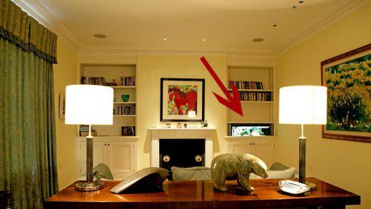 זרוע חשמלית לטלויזיה מעלית עולה ויורדת בסלון
