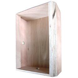 קופסת ביטון לרמקולים שקועים בקיר בטון