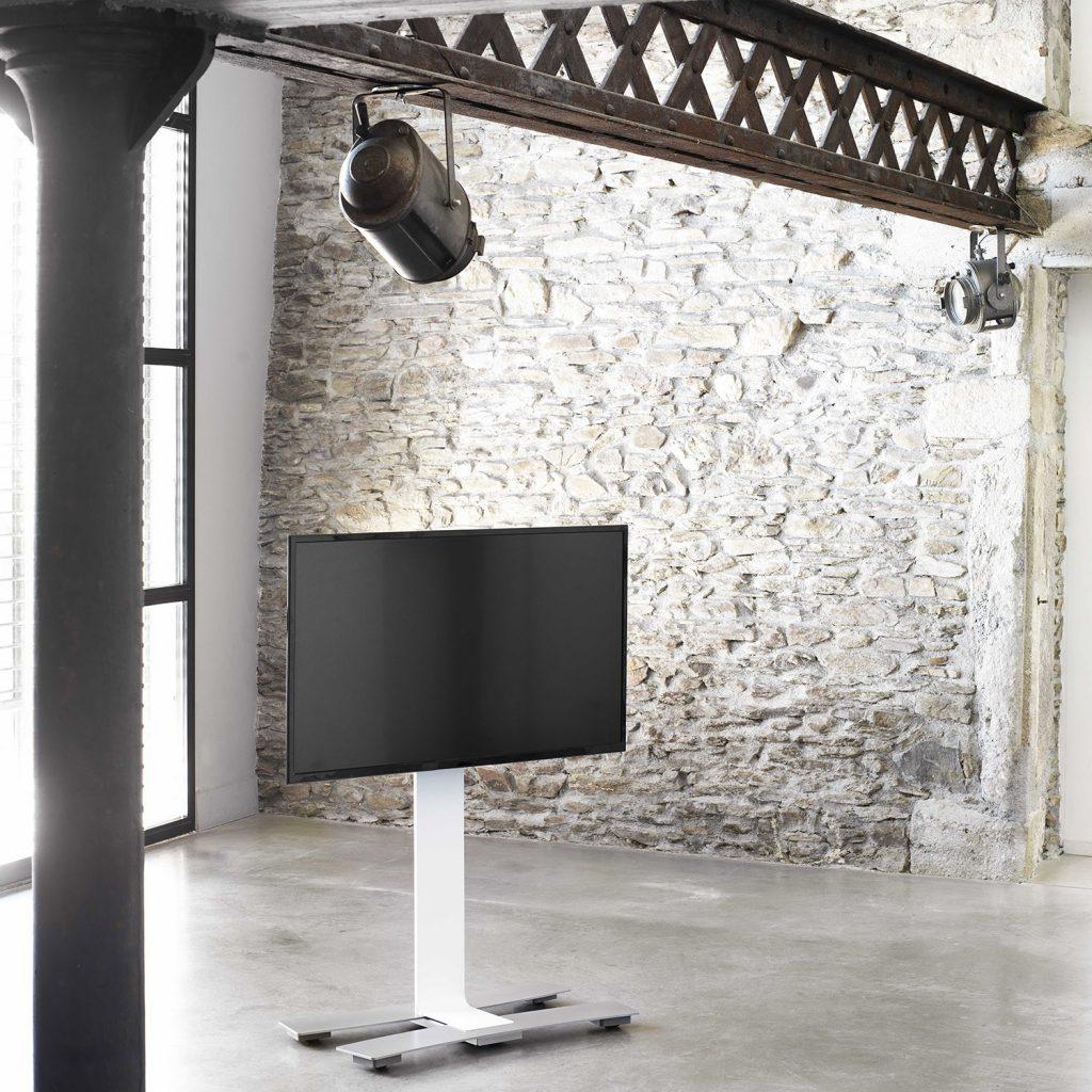 מעמד לטלויזיה צבע לבן